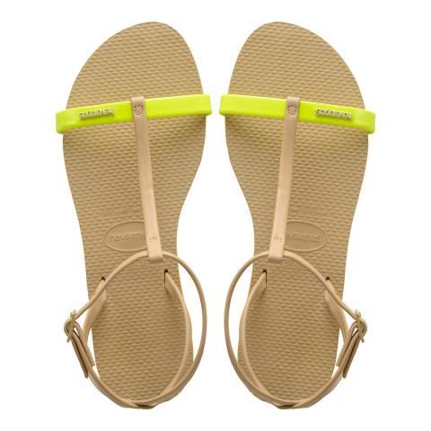 Havaianas Pollen Yellow You Belize Sandals