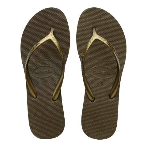 Havaianas Dark Khaki High Light Flip Flops