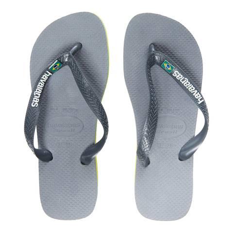 Havaianas Steel Grey Brasil Layers Flip Flops
