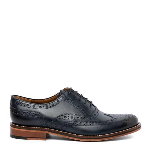Chapman & Moore Navy Leather Oxford Broguues