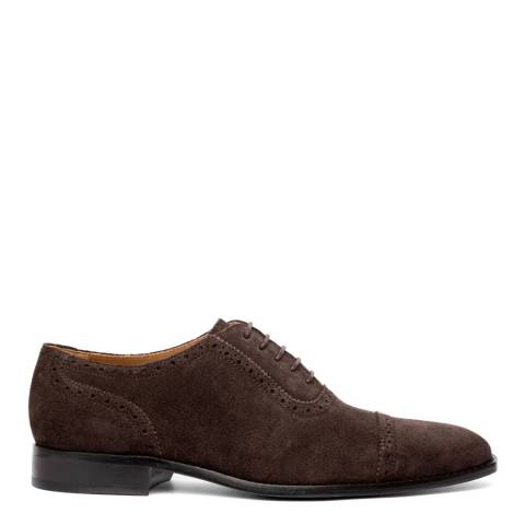 Chapman & Moore Chocolate Semibrogue Suede Leather Shoes