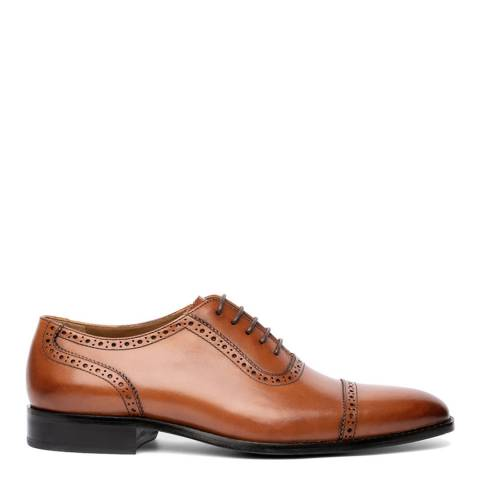 Chapman & Moore Woodberry Tan Semibrogue Leather Shoes