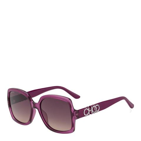 Jimmy Choo Womens Red Jimmy Choo Sunglasses 55mm
