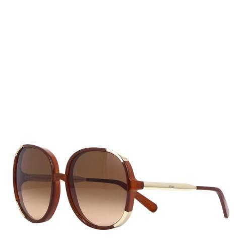 Chloe Womens Brown Chloe Sunglasses 61mm