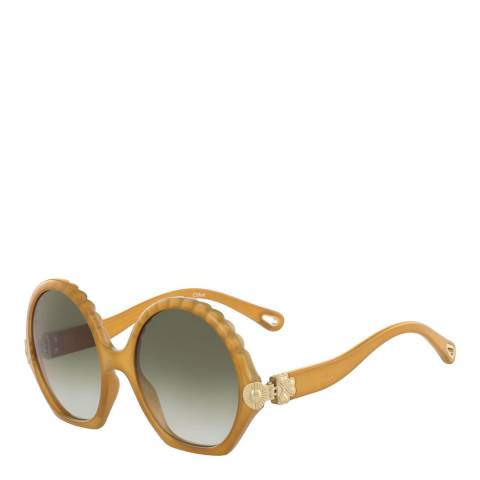 Chloe Womens Gold Chloe Sunglasses 56mm