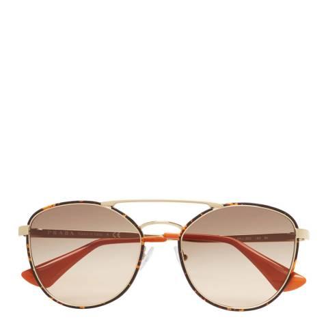 Prada Womens Gold Prada Sunglasses 55mm
