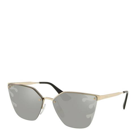 Prada Womens Silver Prada Sunglasses 63mm