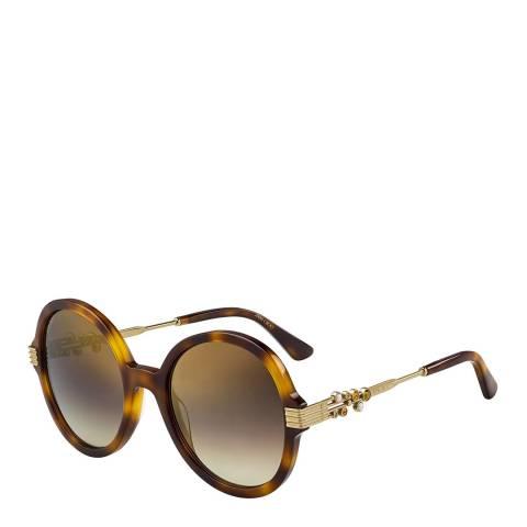 Jimmy Choo Womens Brown Jimmy Choo Sunglasses 55mm