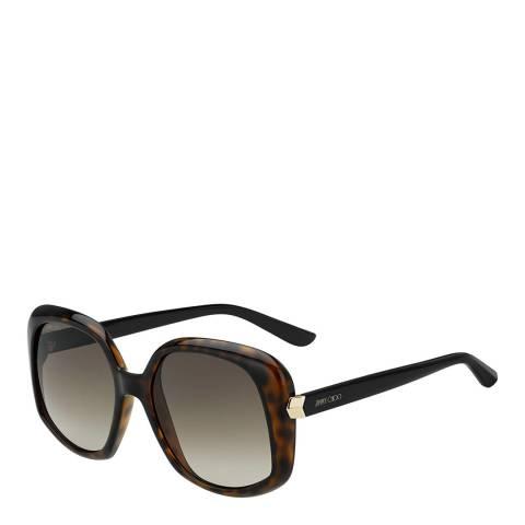 Jimmy Choo Womens Brown Jimmy Choo Sunglasses 56mm