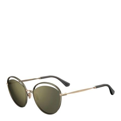 Jimmy Choo Womens Gold Jimmy Choo Sunglasses 59mm