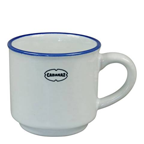 Cabanaz Set of 6 White Espresso Cups