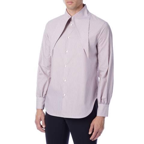 Vivienne Westwood Red Stripe Hals Cotton Shirt