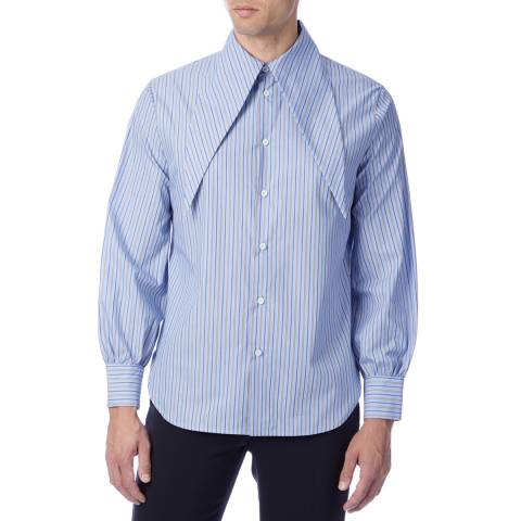Vivienne Westwood Blue Stripe Hals Cotton Shirt