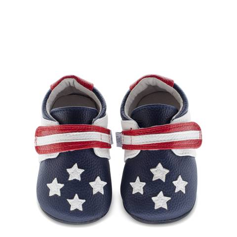 Jack & Lily Red/White/Blue Usa Flag Sam Booties