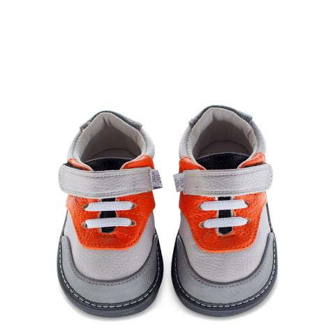 Jack & Lily Grey/Orange Ryder Trainer Sneakers