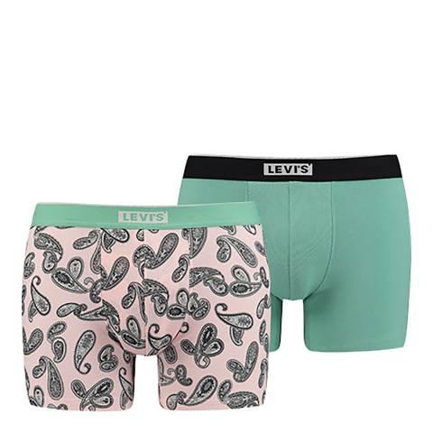 Levi's Light Pink/Green Paisley Aop Boxer, 2 Pack
