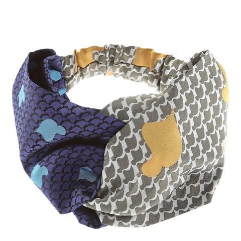 Vivienne Westwood Green Blue Tie Head Band