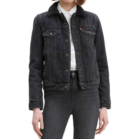 Levi's Black Original Sherpa Denim Trucker Jacket