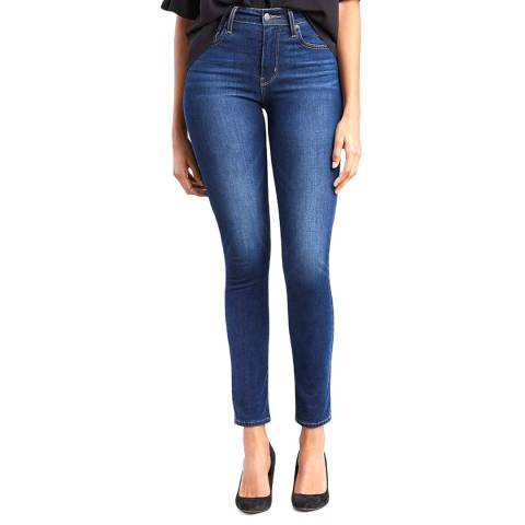 Levi's Mid Blue 721™ High Rise Skinny Stretch Jeans