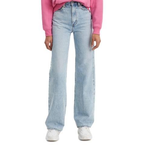 Levi's Blue Ribcage Wide Leg Jeans