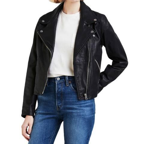Levi's Black Jesse Moto Leather Jacket