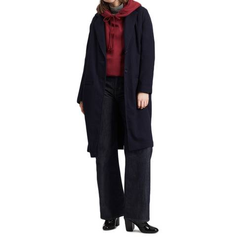 Levi's Navy Cameron Wool Blend Coat