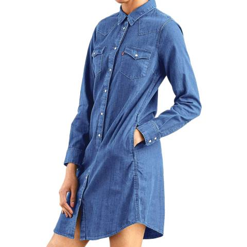 Levi's Blue Ultimate Western Dress