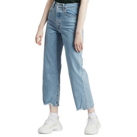Levi's Blue Ribcage Straight Stretch Jeans