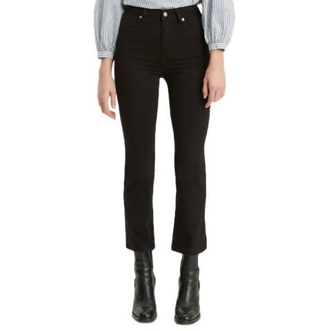 Levi's Black Mile High Crop Flare Stretch Jeans
