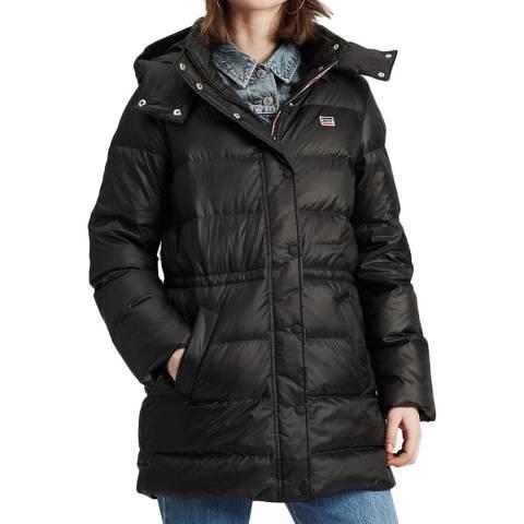 Levi's Black Kelli Long Puffer Coat