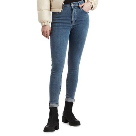 Levi's Mid Blue Mile High Super Skinny Stretch Jeans
