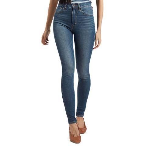 Levi's Blue Mile High Super Skinny Stretch Jeans