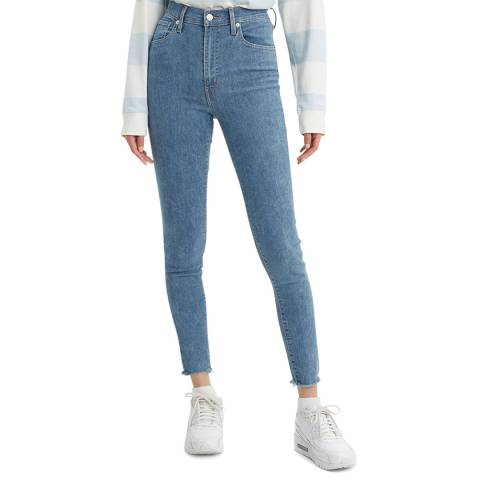 Levi's Blue Denim Mile High Super Skinny Stretch Jeans
