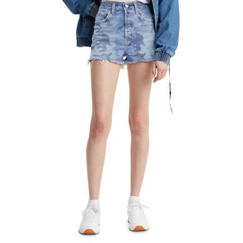 Levi's Blue Camo Ribcage Shorts