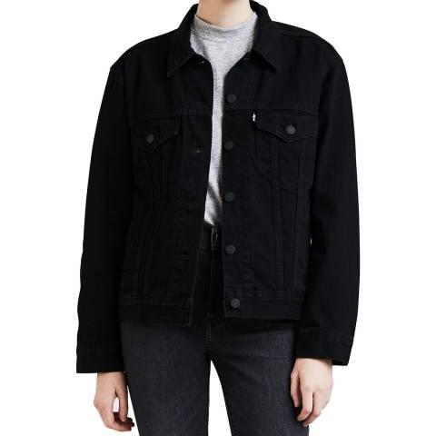 Levi's Black Ex-Boyfriend Trucker Denim Jacket