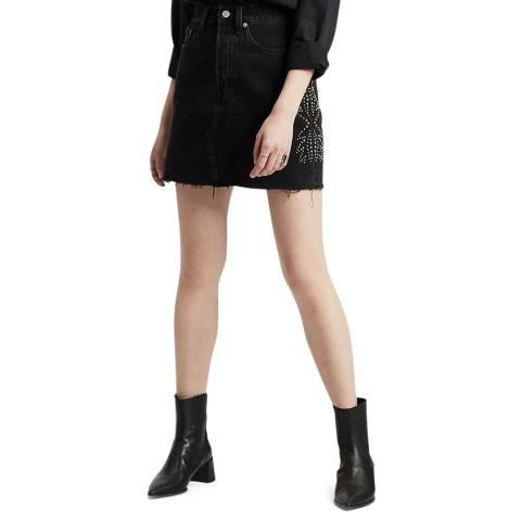 Levi's Black Decon Iconic Stud Denim Skirt