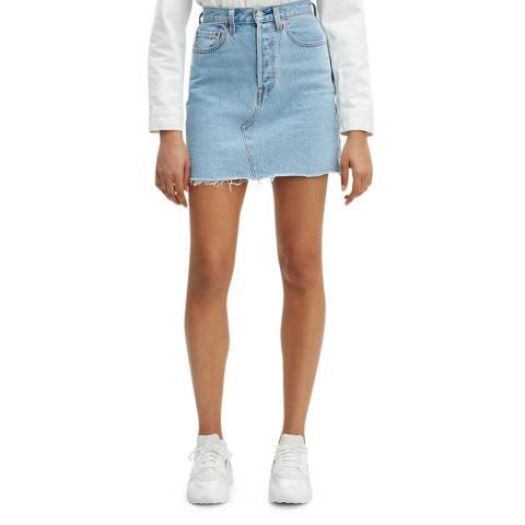 Levi's Blue Decon Iconic Embroidered Denim Skirt