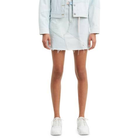 Levi's Light Blue Deacon Iconic Seam Skirt