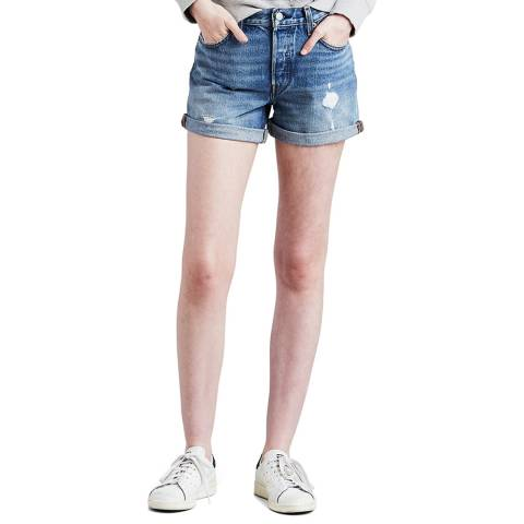 Levi's Blue 501® Rolled Shorts