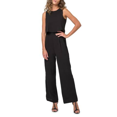 Religion Black Wide Leg Contour Jumpsuit