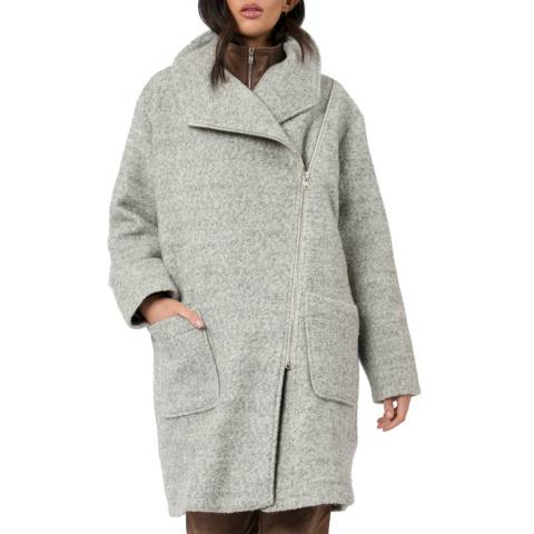 Religion Grey Wool Blend Universe Coat