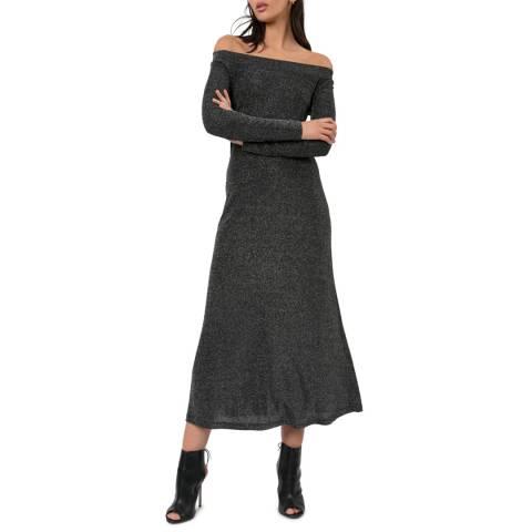 Religion Dark Grey Modern Maxi Dress