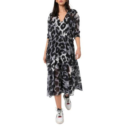 Religion Leopard Print Creation Maxi Dress