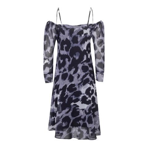 Religion Leopard Print Gemini Midi Dress