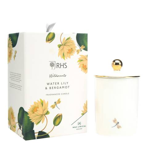 Wax Lyrical Ceramic Candle Water Lily & Bergamot