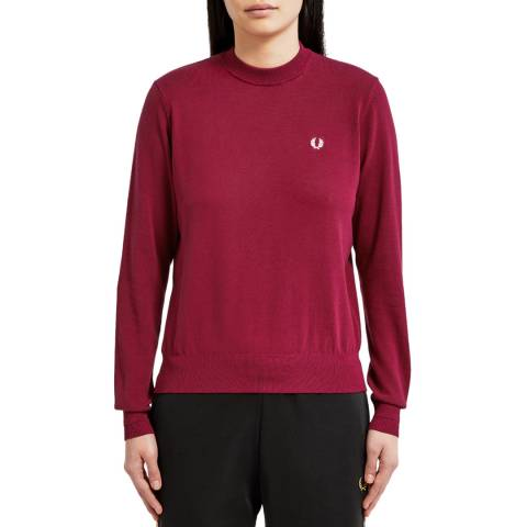 Fred Perry Red Crew Jumper