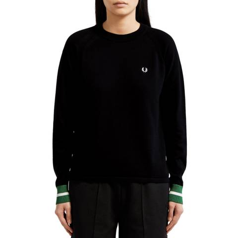 Fred Perry Black Bold Tipped Jumper