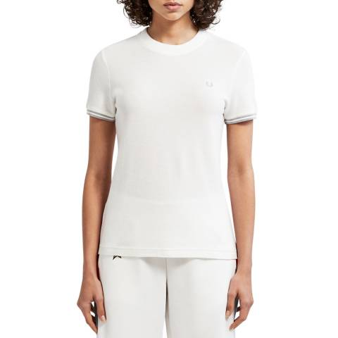 Fred Perry White Twin Tipped T-Shirt