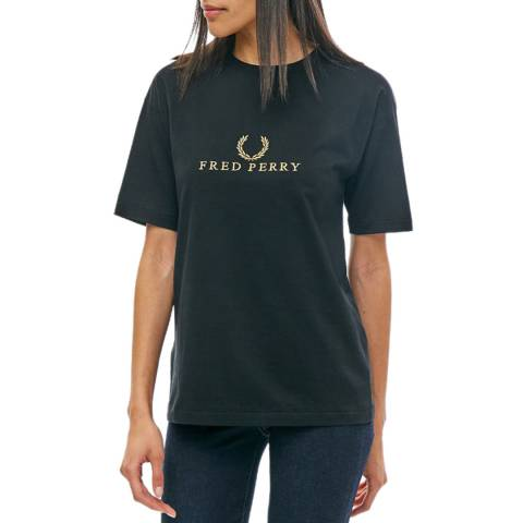 Fred Perry Navy Embroidered T-Shirt