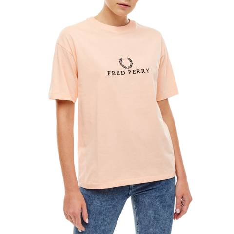Fred Perry Pink Embroidered T-Shirt